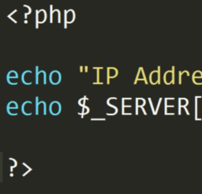 How to display a visitors IP Address using php